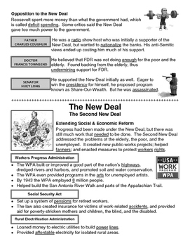22 - The New Deal - Scaffold/Guided Notes (Filled-In Only)