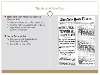 The New Deal Lecture