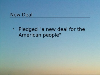 The New Deal Powerpoint in PDF