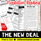 The New Deal Reading and Writing Activity (SS5H3, SS5H3b)