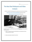 The New Deal- Webquest and Video Analysis with Key