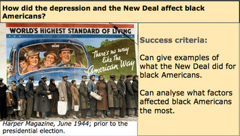 The New Deal and Civil Rights: How did the the New Deal af