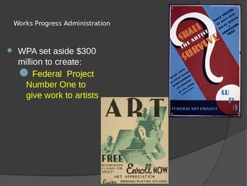 The New Deal and the Arts
