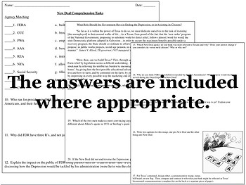 The New Deal in Texas Power Point and Primary Source Analysis