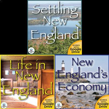 The New England Colonies Interactive Notebook Bundle