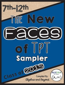 The New Faces of TpT Sampler: 7th-12th Grade
