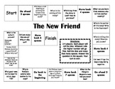 """The New Friend"" Comprehension Game Board- Journeys story 1st grade"