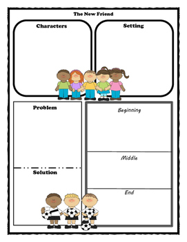 The New Friend Story Map - Graphic Organizer