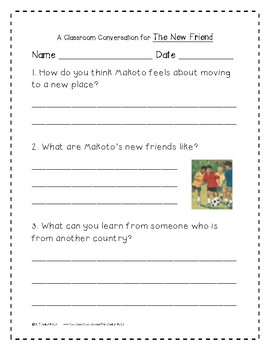 The New Friend Supplemental Activities 1st Grade Journeys Unit 5, Lesson 25