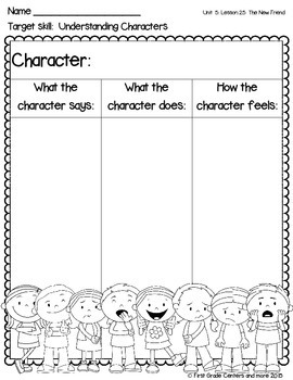 The New Friend aligned with Journeys First Grade Unit 5 Lesson 25
