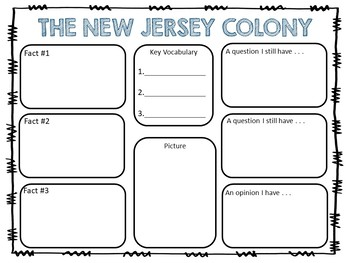 The New Jersey Colony ~ A True Book ~ 34 pages Common Core Activities