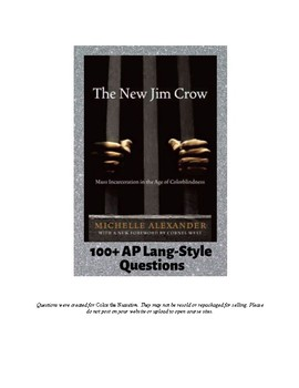 The New Jim Crow - AP Language Review Questions