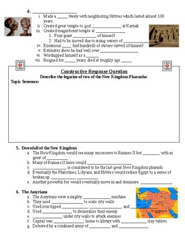 The New Kingdom of Egypt Guided Lecture Handout