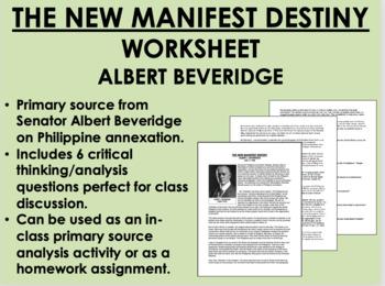 """The New Manifest Destiny"" - Albert Beveridge - USH/APUSH"