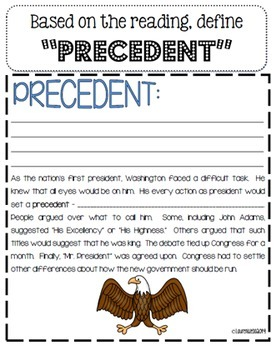 George Washington Precedents