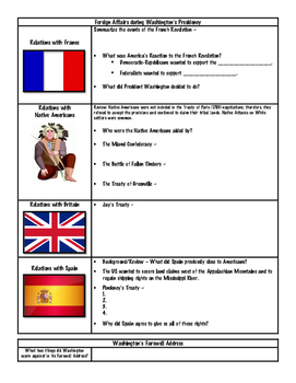 The New Nation Note Packet - The Federalist Period and The War of 1812