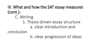 The New SAT Essay Explained