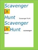 The New Student Scavenger Hunt