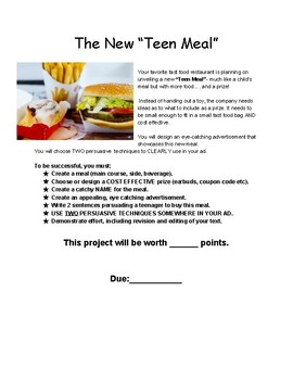 """The New """"Teen Meal"""" Project"""