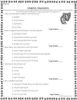 The New Year Dragon Dilemma Comprehension Questions and Lesson Plans