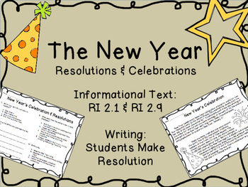 The New Year: Informational Text, Questions & Writing