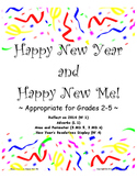 2015 New Year Pack; adverbs, area/perimeter, resolutions display!