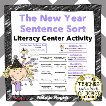 The New Year Sentence Sort: Literacy Center Activity