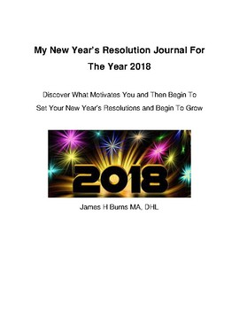 The New Years Resolution Journal For Students