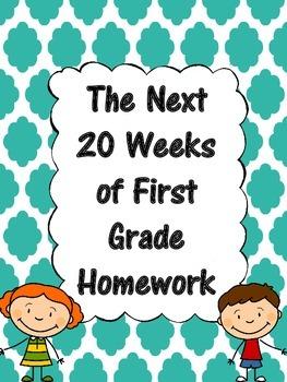 The Next 20 Weeks of First Grade Homework