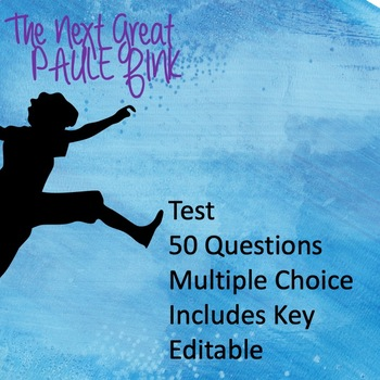 The Next Great Paulie Fink Test (EDITABLE!)