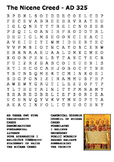 The Nicene Creed Word Search