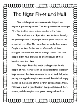 The Niger River and Mali Reading Passage