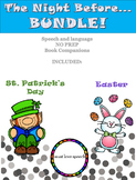 The Night Before BUNDLE: Speech and Language Book Companions