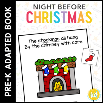 Eight Special Education Communication >> The Night Before Christmas Adapted Book For Students With Autism