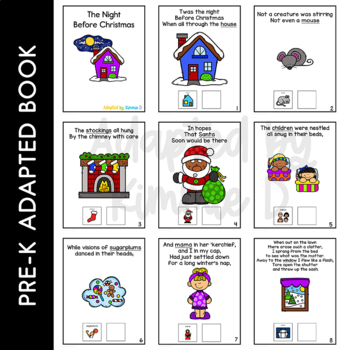 The Night Before Christmas: Adapted Book for Students with Autism & Special Need