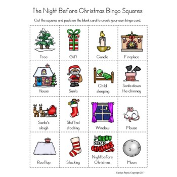 The Night Before Christmas Bingo