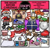 The Night Before Christmas Clip Art Bundle {Educlips Clipart}