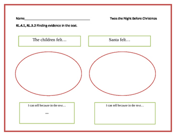 """The Night Before Christmas"" Common Core Activities"