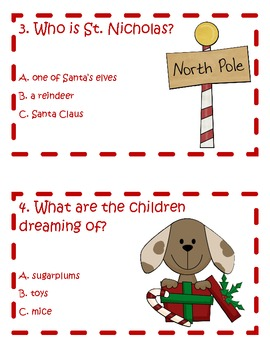 The Night Before Christmas Comprehension Scoot