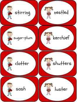 The Night Before Christmas Literacy Centers