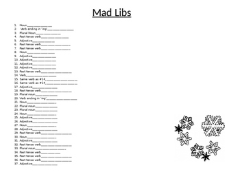 The Night Before Christmas Mad Libs