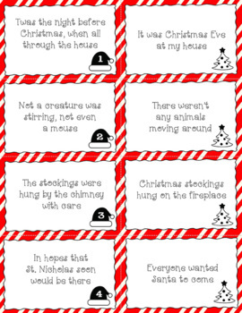 The Night Before Christmas Paraphrasing Activity