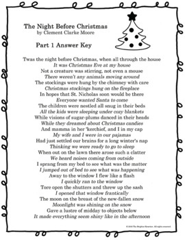 Paraphrasing Practice The Night Before Christmas