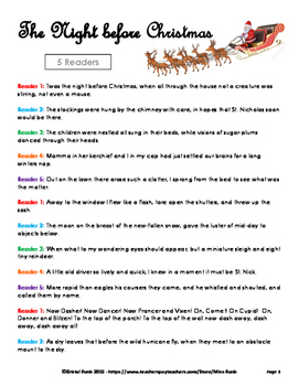 The Night Before Christmas Readers Theater