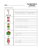 The Night Before Christmas Trace the Words Worksheets Pres