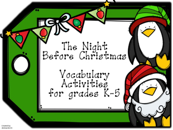 The Night Before Christmas Vocabulary Packet