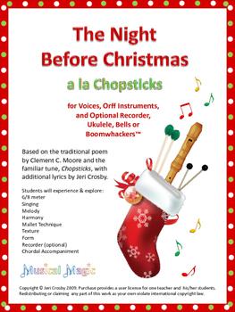 The Night Before Christmas / Chopsticks - Engaging, Entert
