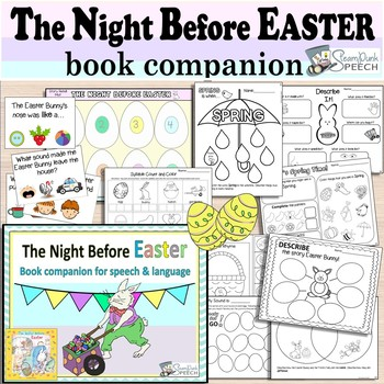 The Night Before Easter:  A Book Companion for Springtime Speech Therapy