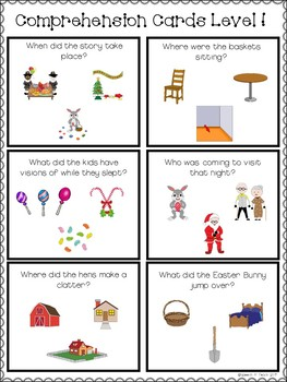 The Night Before Easter Speech & Language Book Companion