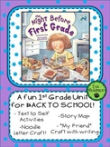 The Night Before First Grade- A Fun 1st Grade Unit for Back to School!